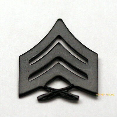 Sergeant Sgt E5 Regulation Black Chevron Lapel Hat Pin Up Us Marines Tie Tac Wow