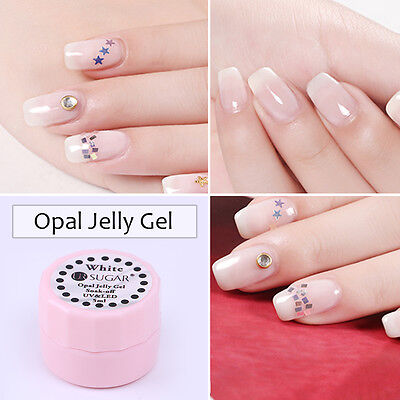 5ml Opal Jelly Gel Soak Off UV Gel Nail Polish Semi-transparent White Varnish