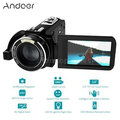 "WiFi 1080P 24MP Full HD Digital Video Camera Camcorder 3.0"" LCD Touchscreen K7O5"