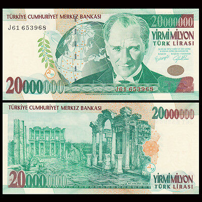 Turkey 20,000,000 (20000000) Lira, 1970(2000), P-215, UNC