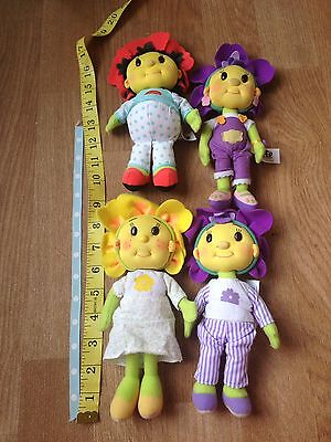 Fifi And The Flowertots Soft Toy Figures X 4 Dolls