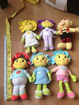Fifi And The Flowertots Soft Toy Figures X 6 Dolls
