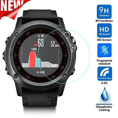 For GARMIN Fenix3 HR Transparent Tempered Glass Film Screen Protector Protect BG