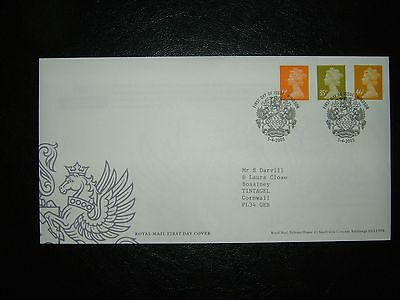 2005 New Definitive Values Royal Mail Fdc & Windsor Arms Shs Cv £5