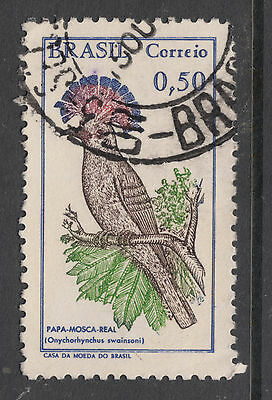 BRAZIL 1968 50c Royal Flycatcher Bird  Very Fine Used(a)