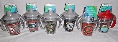 My First Tervis 6 oz Baby Sippy Cup w/Lid - choose NCAA, U.S. Military, Penguins