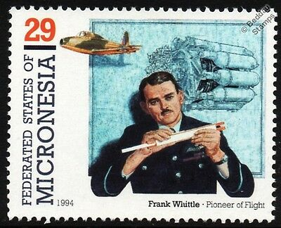 Frank Whittle & RAF GLOSTER E.28/39 Pioneer Jet Aircraft Stamp