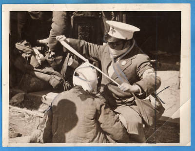 1930s Japanese Red Cross Bandaging Wounded 8x6 Original Press Photo