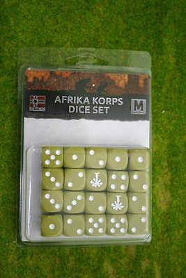 Afrika Korps Dice Set Flames of War GE900