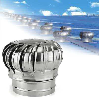 Stainless Steel Roof Ventilator Wind Turbine Air Vent Exhaust Fan Rotary