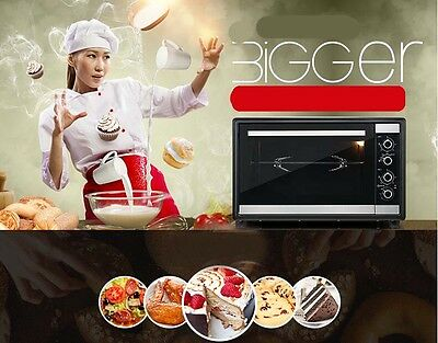 46L Home Commercial Silver Multi-function Baking Tool Benchtop Electric Oven &