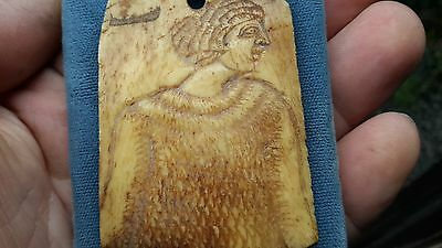 Beautiful Carved Female On Natural Material/Could be Later Medieval