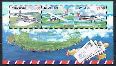 Niuafo'ou 2002 Mail Planes MS SG 323 MNH