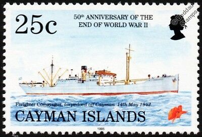 WWII Merchant Navy SS COMAYAGUA Armed Freighter Ship Stamp (Sunk by U-Boat)