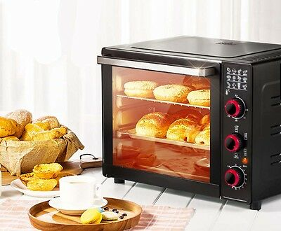 1600W 33L Commercial Multi-function Heating Kitchen Benchtop Electric Oven *