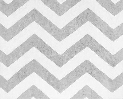 Sweet Jojo Designs Baby Kid Floor Rug for Pink Gray Zig Zag Chevron Bedding Set