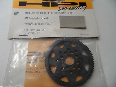 New HPI Spur Gear 87 Tooth (48 Pitch/Carbon Fibre)For RS4 MT/Mini/Pro 2 6987 87T