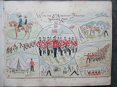 13 Hand Drawn Military Postcards Pmks.1896 -97. + 19 Watercolours. EXETER School
