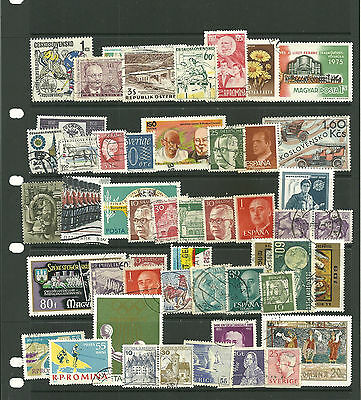 Europe   10 stock sheets collection stamps for the collector