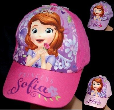 CASQUETTE ROSE VIOLET enfant 52 OU 54 cm PRINCESSES DISNEY princess SOFIA FILLE