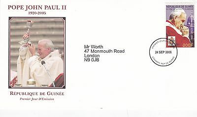 Guinea 2005 In Memory of Pope John Paul II FDC