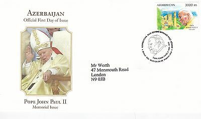 Azerbaijan 2005 In Memory of Pope John Paul II FDC