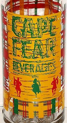 Vintage soda pop bottle CAPE FEAR BEVERAGES 12oz 3 color bagpiper pictured Rare