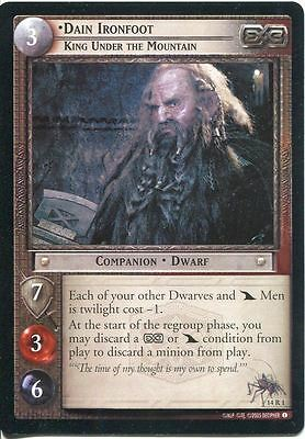 Lord Of The Rings CCG TCG Expanded Middle Earth Card 14R1 Dain Ironfoot KutM