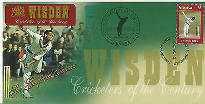 GRENADA WISDEN 2000 CRICKET SIR GARFIELD SOBERS 1v FIRST DAY COVER No 4 of 4