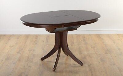 DARK HUDSON Round Extending Dining Room Table Furniture