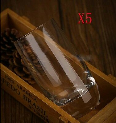 New 5X Capacity 285ML Height 123MM Transparent Whisky Wine Glass/Glassware %