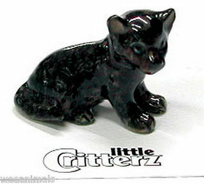 """Little Critterz LC124 """"Stealth"""" Black Panther Cub Figurine Wee Animal Miniature"""