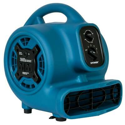 XPower P-260AT 115-Volt 1/4 HP 800-Cfm Scented Air Mover w/ Outlets, Blue