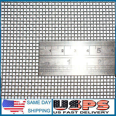 "Woven Wire 10 Mesh (12""X 24"") 30cm X60cm x2mm Coarse,gauze Stainless Steel 304L"