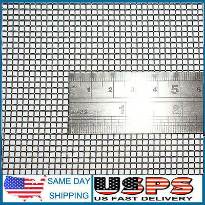 """Woven Wire 10 Mesh - 12""""X24"""" Size - 2mm Hole - 0.6mm Wire - Stainless Steel 304L"""