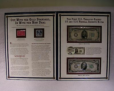 First U.S. Treasury Backed $5 & $10 Federal Reserve Notes $5 1934 D - $10 1934 A