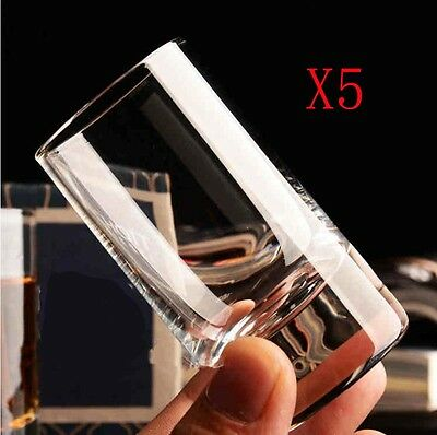 New 5X Capacity 46ML Height 77MM Transparent White Wine Glass/Glassware %