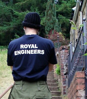 British Army TShirt Size LARGE Military ROYAL ENGINEERS Afghanistan shirt top