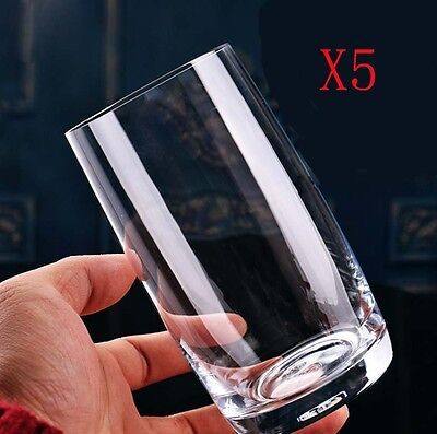 New 5X Capacity 380ML Height 130MM Straight Body Beer Wine Glass/Glassware %