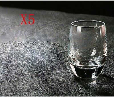 New 5X Capacity 75ML Height 63MM Round Body White Wine Glass/Glassware %