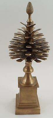 """16"""" Brass Colonial Pinecone Pine Cone Finial Decoration Ornament Mottahedeh"""