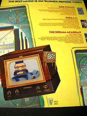 Dire Straits Sheila E. and Dream Academy 1986 PROMO AD