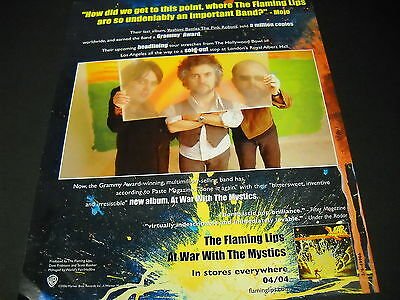 FLAMING LIPS How did we get to this point.... Clever 2006 PROMO DISPLAY AD mint