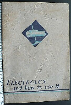 1934 Electrolux Vacuum Cleaner Instructional 32 Page Manual, Many B/W Photos