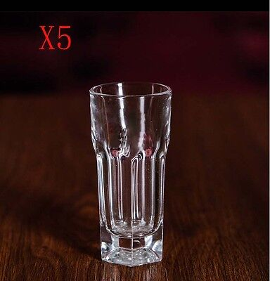 New 5X Capacity 50ML Height 86MM Straight Body Whisky Wine Glass/Glassware %