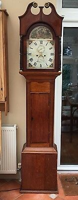 """Antique Grandfather Clock. 1790 By W Preddy Of Langport 12"""" Dial 8 Day"""