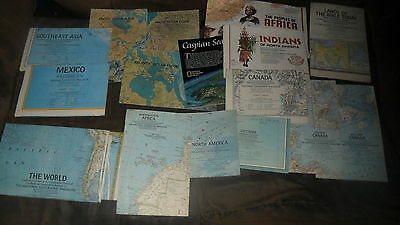 National Geographic Maps - 17 Maps - Worldwide, Specialty See List Below