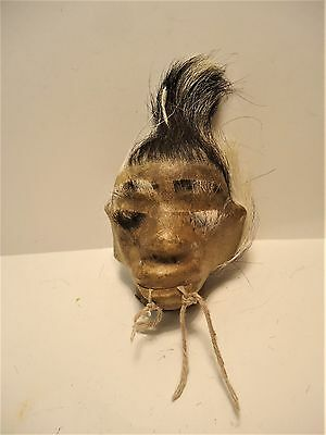 SHRUNKEN HEAD REAL PIG LEATHER NOT HUMAN From Amazon In Ecuador