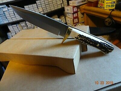 """German Bull **badger** 9 1/2"""" Overall Stag Handle German Stainless Blade 440C"""