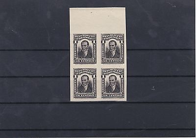 Colombia 1917 Portraits Proof Essay Imperf Block MNH Ref: R6707